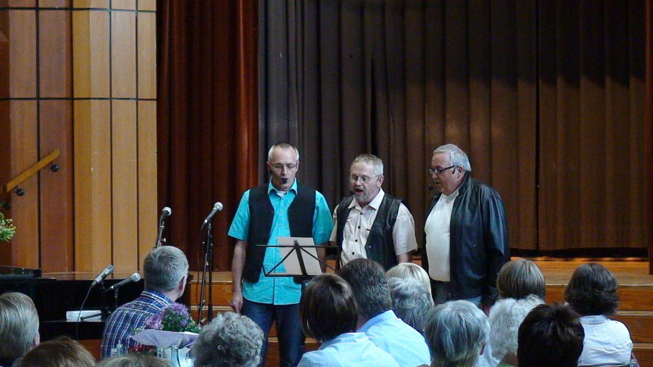 Die drei Musketiere Bernd Witte, Hans-Jürgen Paul und Holger Pramann.
