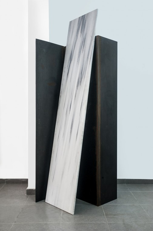 2012, marble and steel