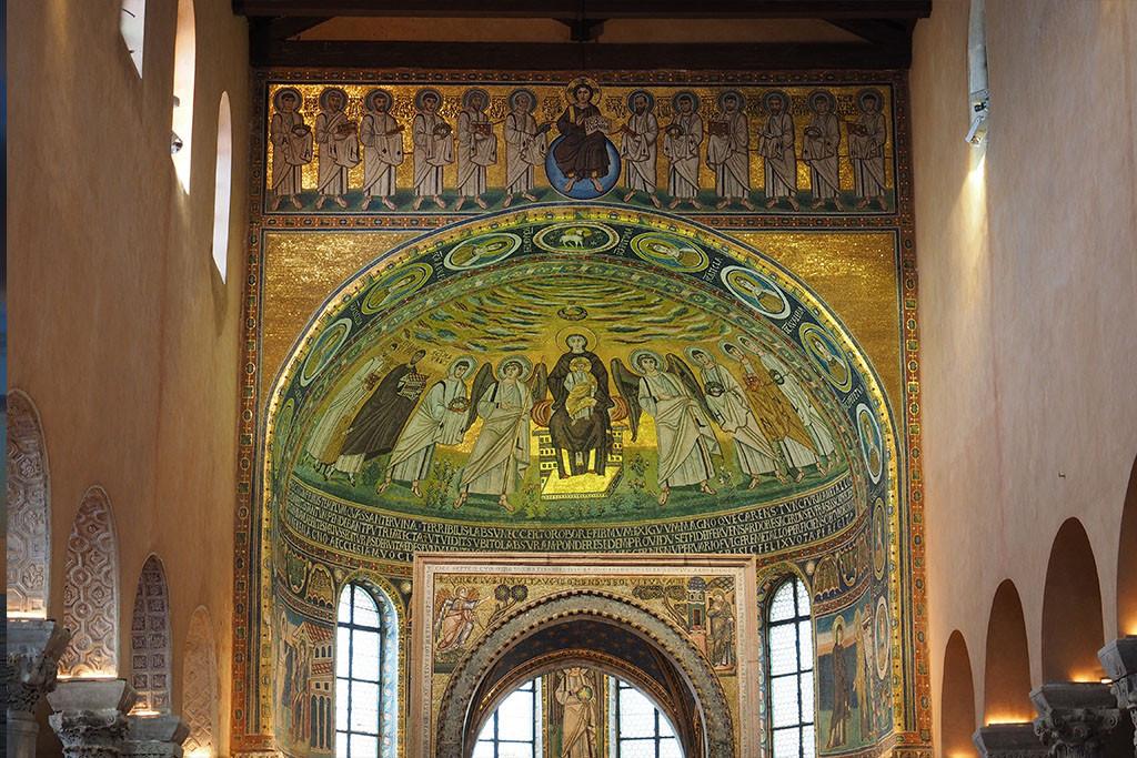 Porec - Mosaikverziertes Altargewölbe der Euphrasius Basilika