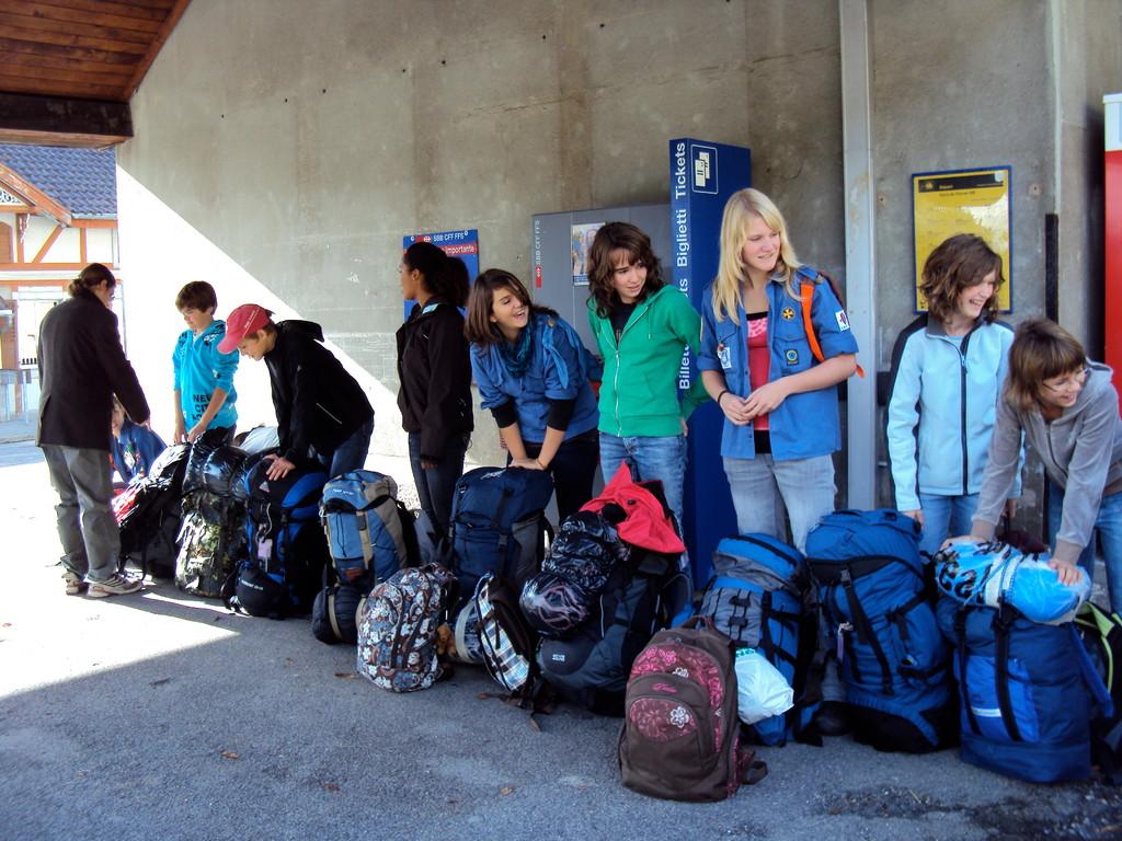... unser Gepäck wird daher untersucht...