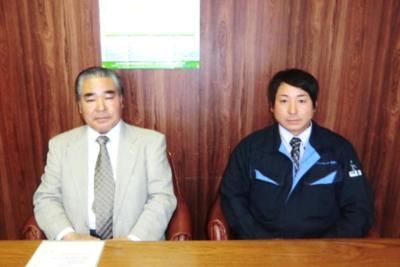 代表取締役 佐藤 謙吾さん(左) 取締役営業部長 菅原 健二さん(右)