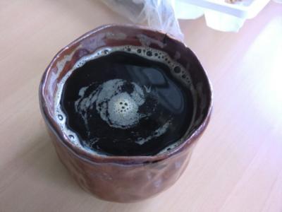 いただいたコーヒーの器も手づくりの作品