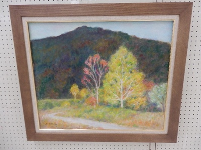 我が民区の区長さんの作品。個人的に風景画が好きです。