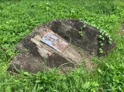 案内表示の痕跡 鬼石 背骨石 兜石
