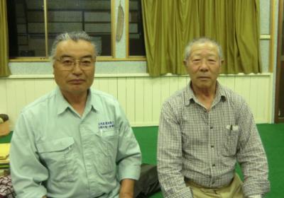 保存会会長 菅原 豊一さん(右) 猿沢峠山伏神楽代表 小野寺 清一さん(左)