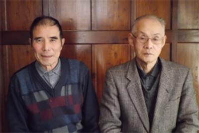 会長 鈴木重孝さん(右) 事務局 千葉健司さん(左)