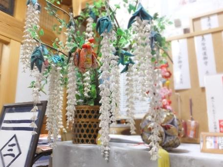 長徳寺・慶寿庵 手芸の会 藤の花 つるし飾り
