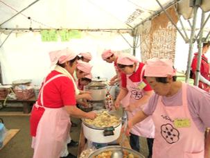 一関市食生活改善推進員協議会藤沢支部 藤沢 野焼祭での縄文食堂
