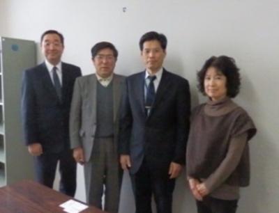 左から、千田恭平さん、佐々木勝裕さん 千葉精一さん、徳谷喜久子さん