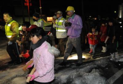 昨年の火伏祭の様子 子供達のパレードが火の用心を呼びかけます