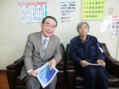 代表取締役社長 菅原 正行 さん(左)常務取締役工場長兼制作本部長熊谷 輝夫 さん(右)