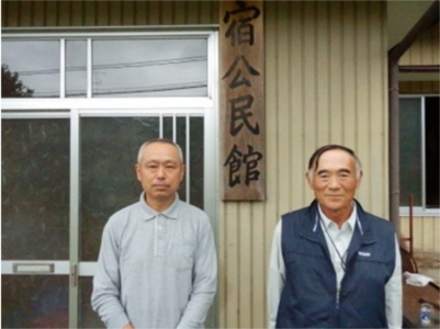 現館長小野寺忠さん(左)と 前館長千葉平城さん(右)