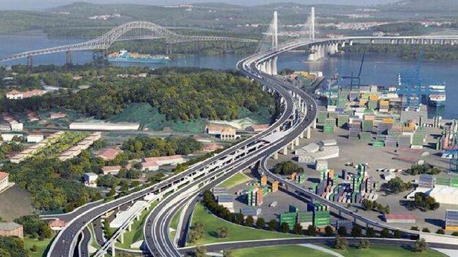 Das Konzept der vierten Panama-Kanalbrücke. Quelle: La Prensa