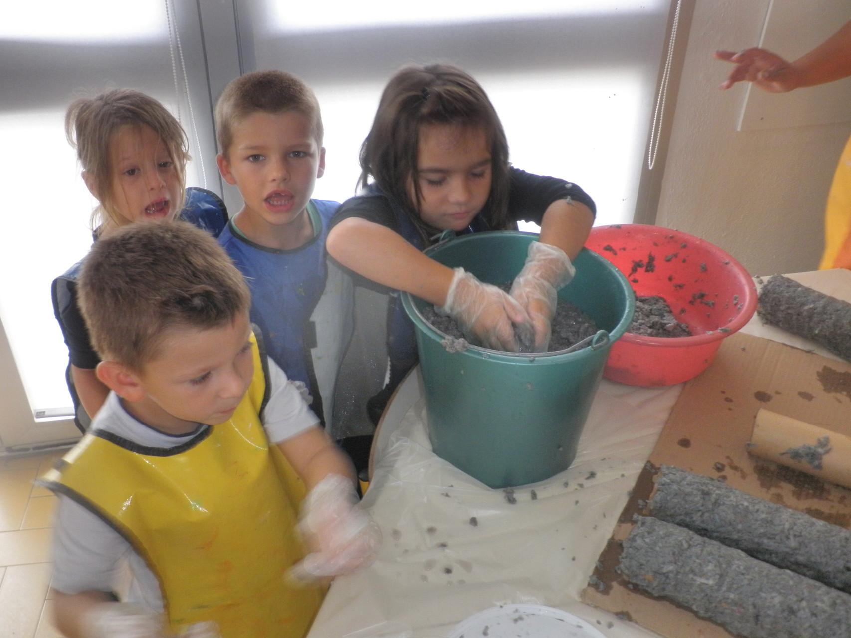 Sculpture en pâte à papier pour l'école maternelle de Port-Barcarès