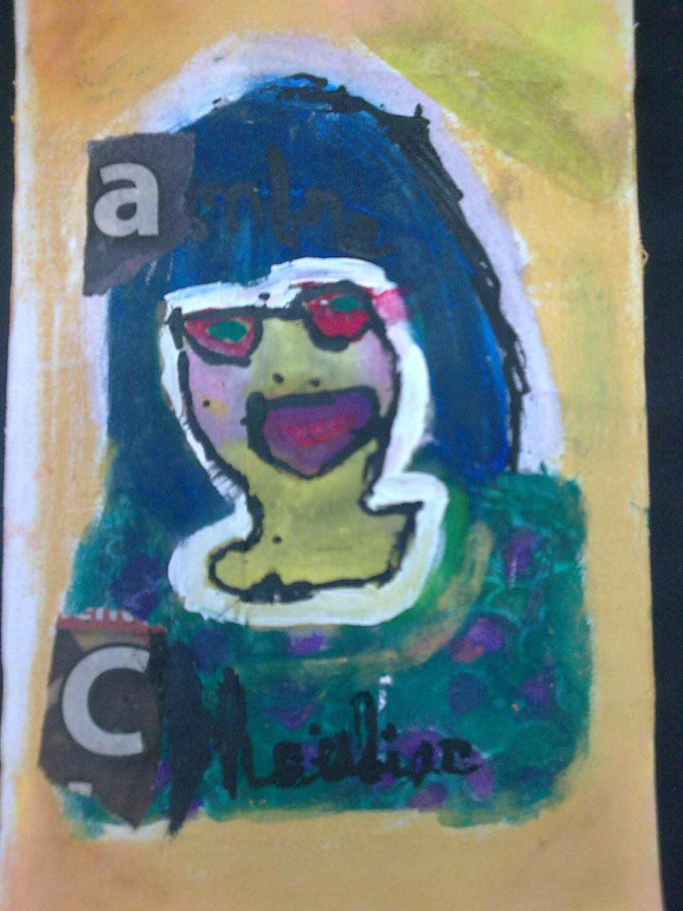 """Atelier """"Portrait pop et incrustation de photo"""" avec les petits écoliers"""