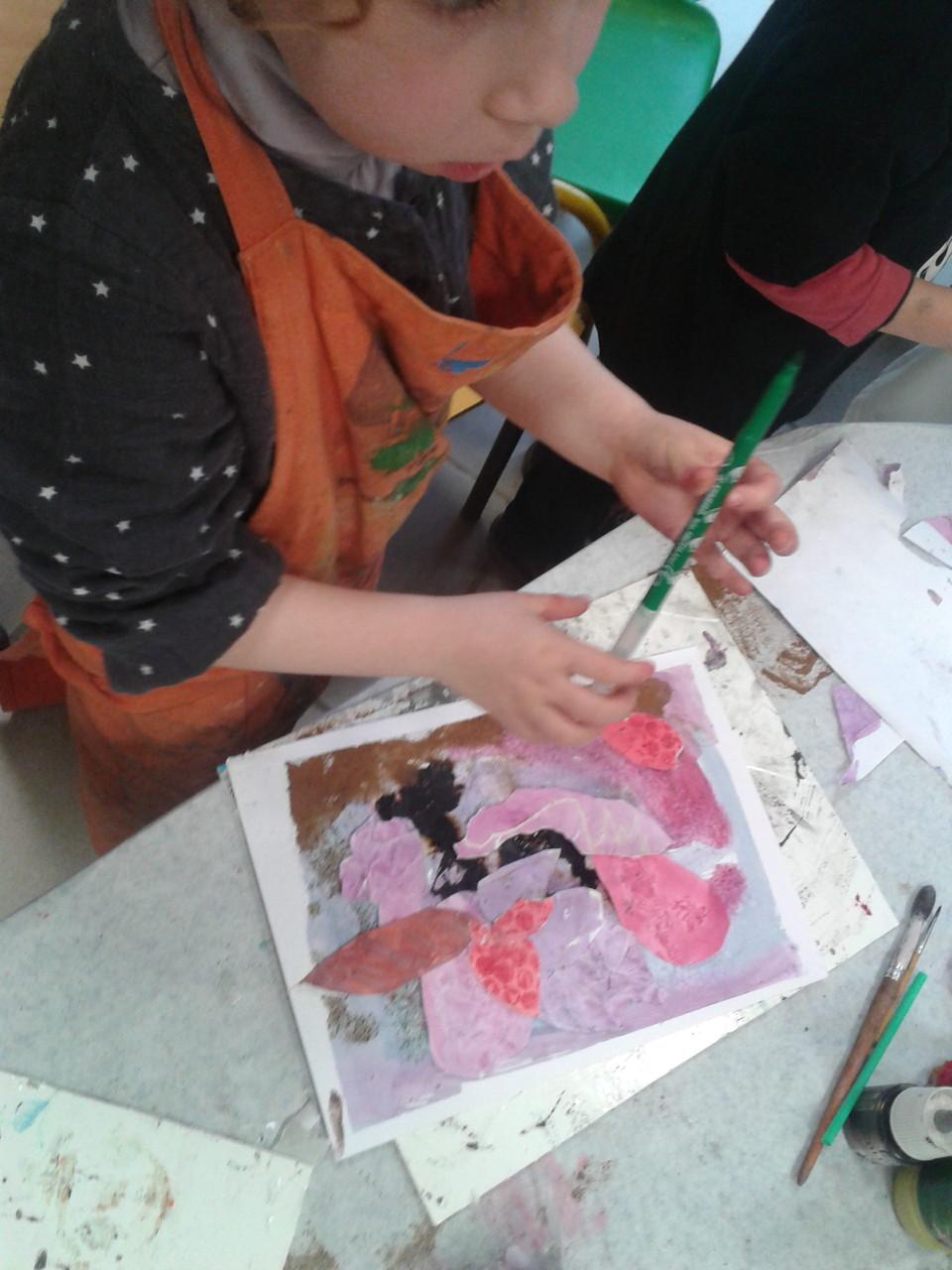 """Atelier """"Méli-mélo d'artiste"""" pour les toutes petites mains et les parents"""