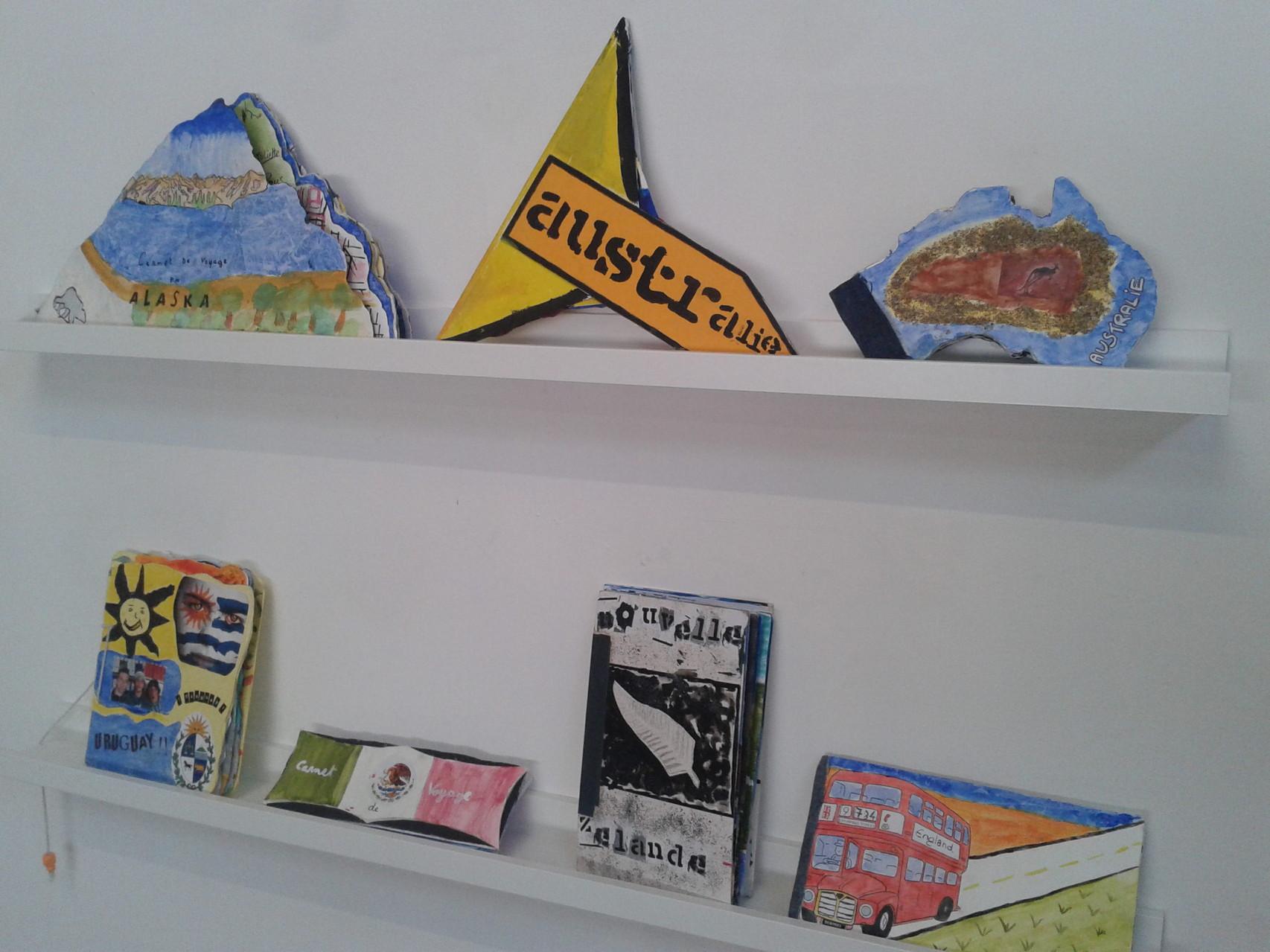 Exposition des carnets réalisés par les lycéens au centre d'art ACMCM de Perpignan