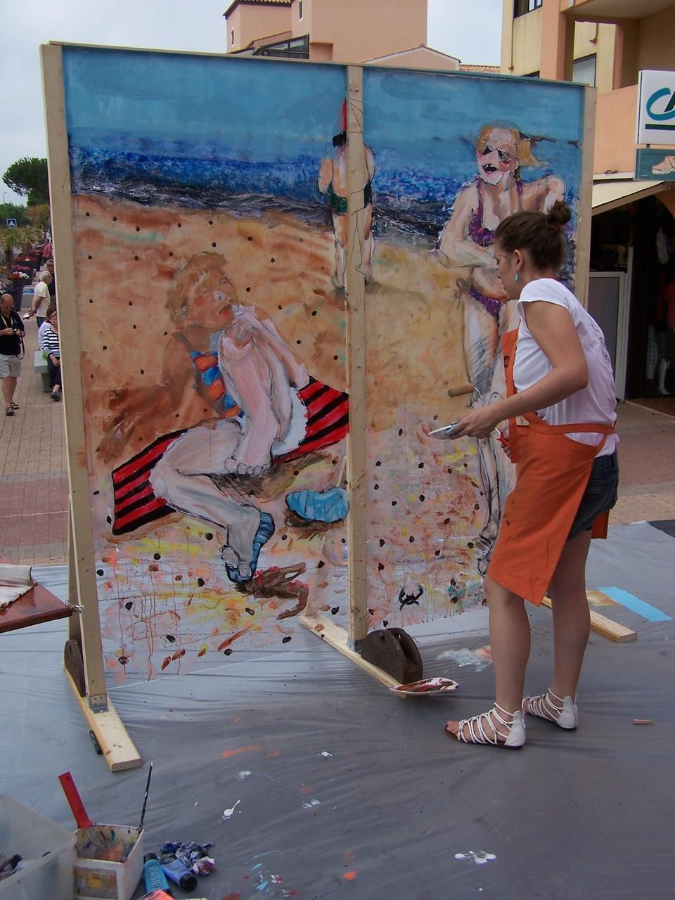"""Performance """"Peinture sur/sous verre"""", 3 heures en public et en musique !"""