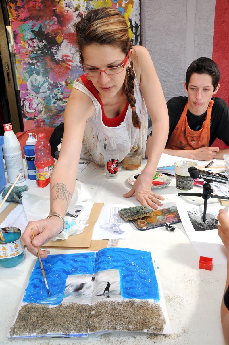 """En atelier artistique """"Carnets de voyages"""" avec le lycée agricole de Narbonne"""