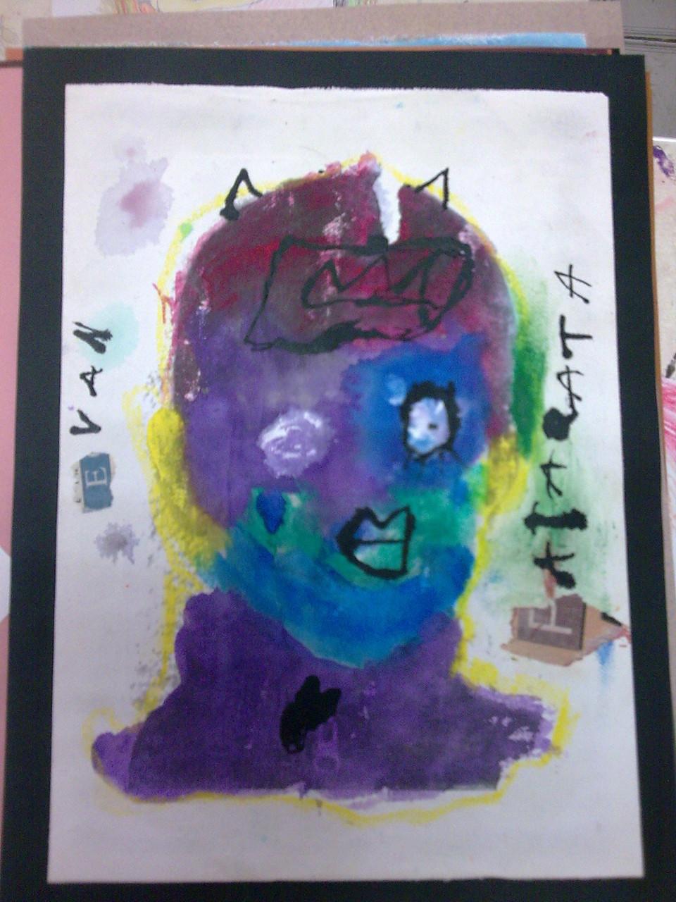 """Atelier """"portrait pop et incrustation photo"""" avec les petits écoliers"""