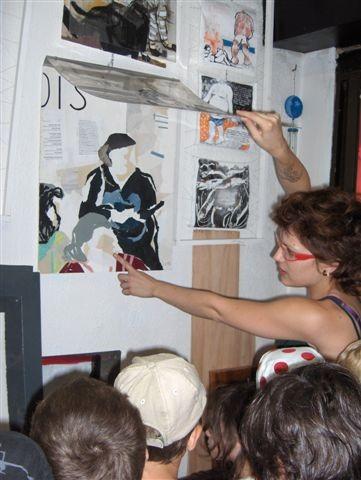 Classe en visite à l'atelier de Tiffany