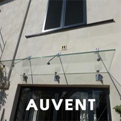 Auvent vitré, aluminium ou acier sur mesure