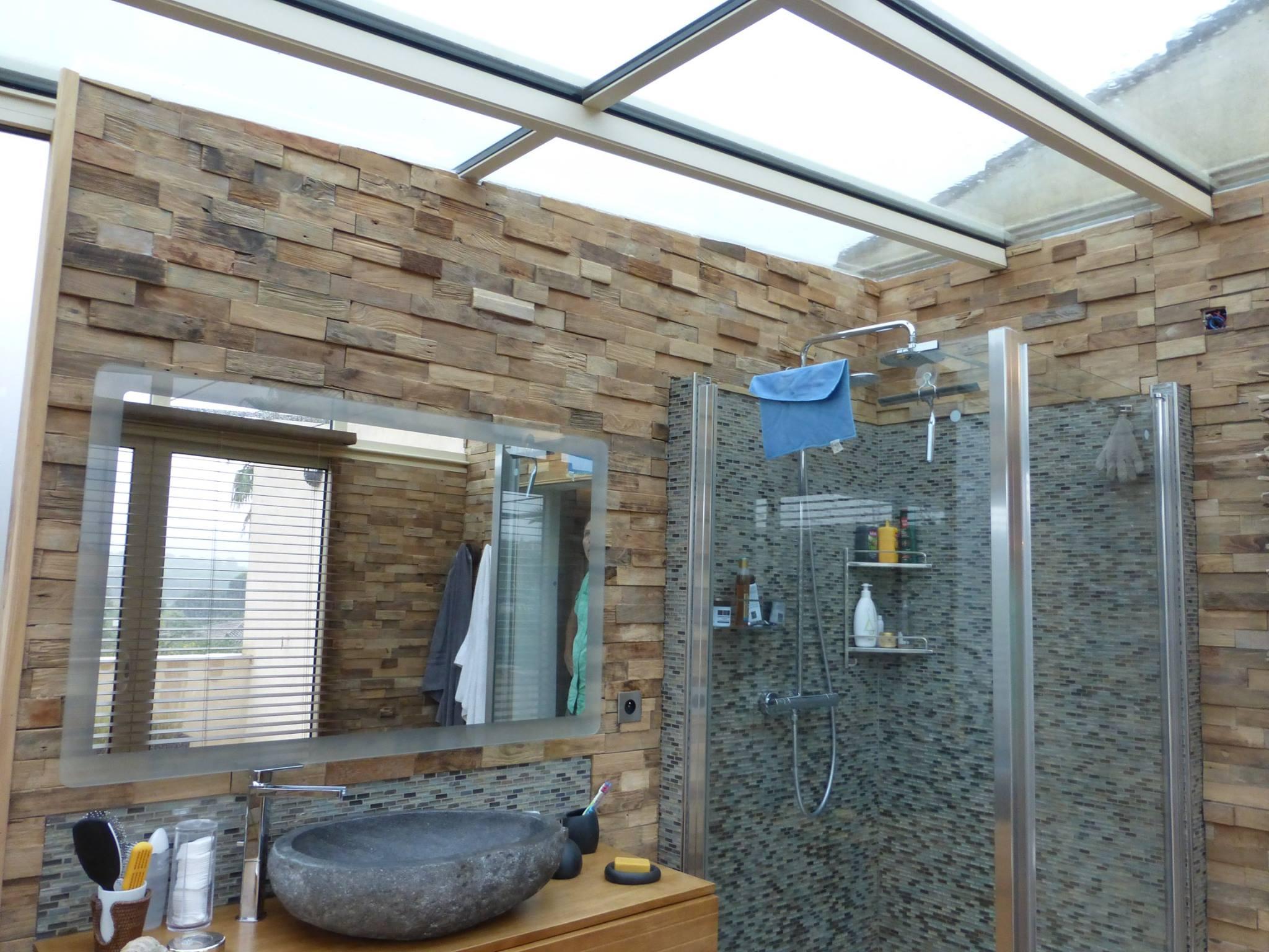 salle de bain dans véranda