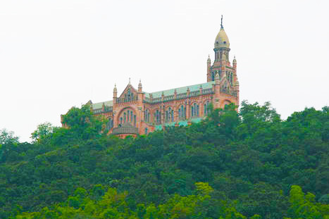 The residential compound is located in Songjiang District, home of the famous landmark Sheshan Cathedral, pictured above.