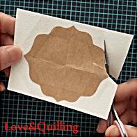 大人っぽいカーネーションのカード 飾り台紙の作り方2