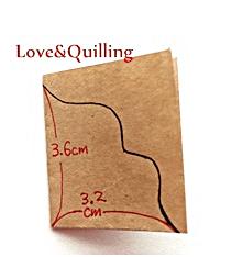 大人っぽいカーネーションのカード 飾り台紙の作り方1