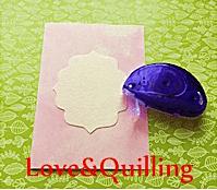 大人っぽいカーネーションのカード 飾り台紙の作り方3
