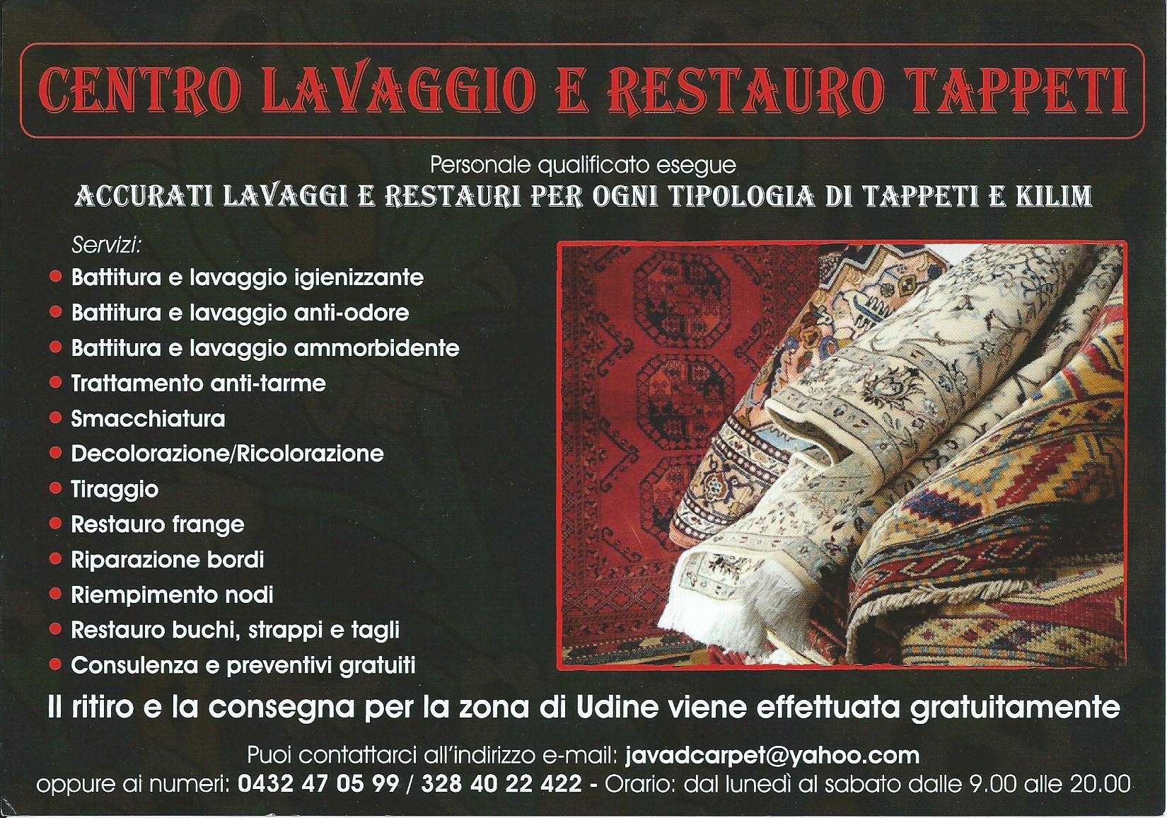 Servizi di tappeti Tabriz carpet Udine via molin nuovo