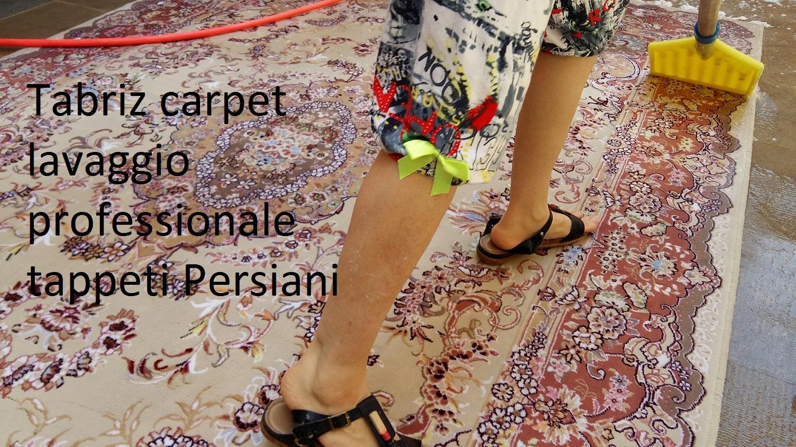 Lavaggio tappeto persiano extra fine lana misto seta