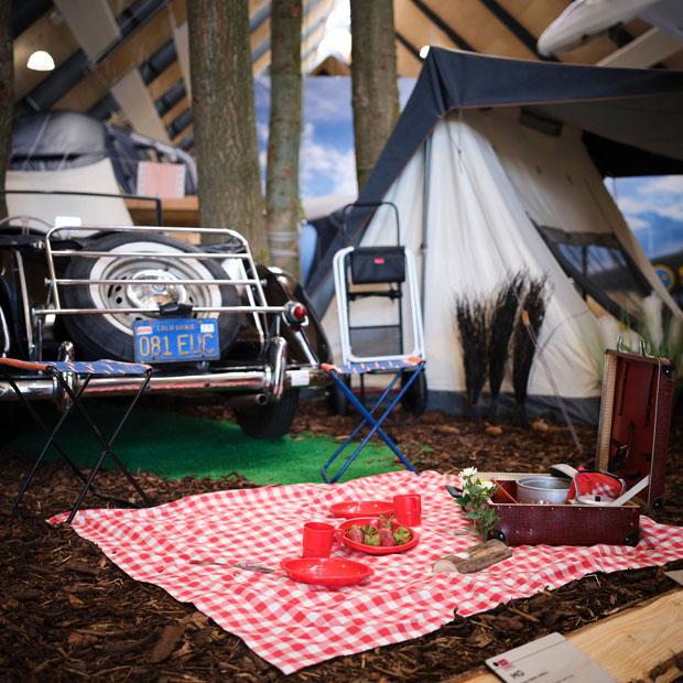 Im neuen Camping- und Outdoor-Museum von Schloss Egeskov auf der dänischen Ostseeinsel Fünen. Foto: Destination Fyn/Egeskov Slot