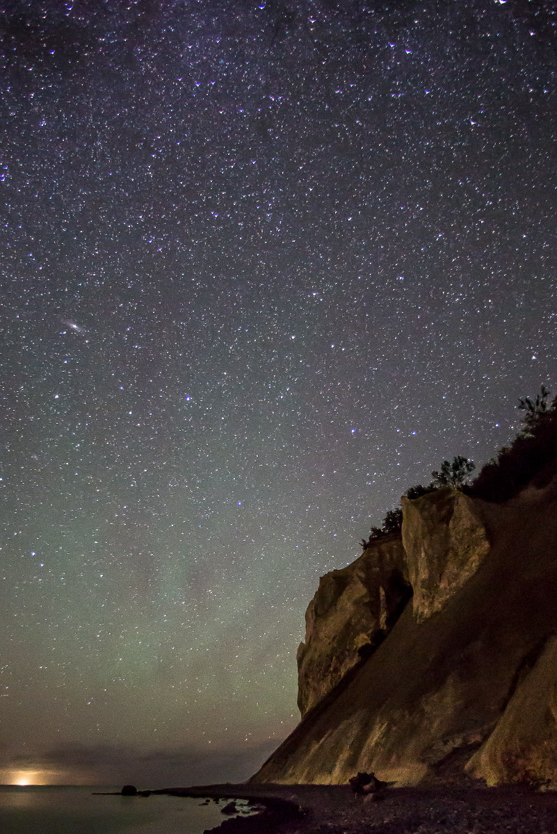 Nachthimmel im neuen Dark Sky Park an der Steilküste Møns Klint. Foto: PR/Fotograf: Thomas Ix.