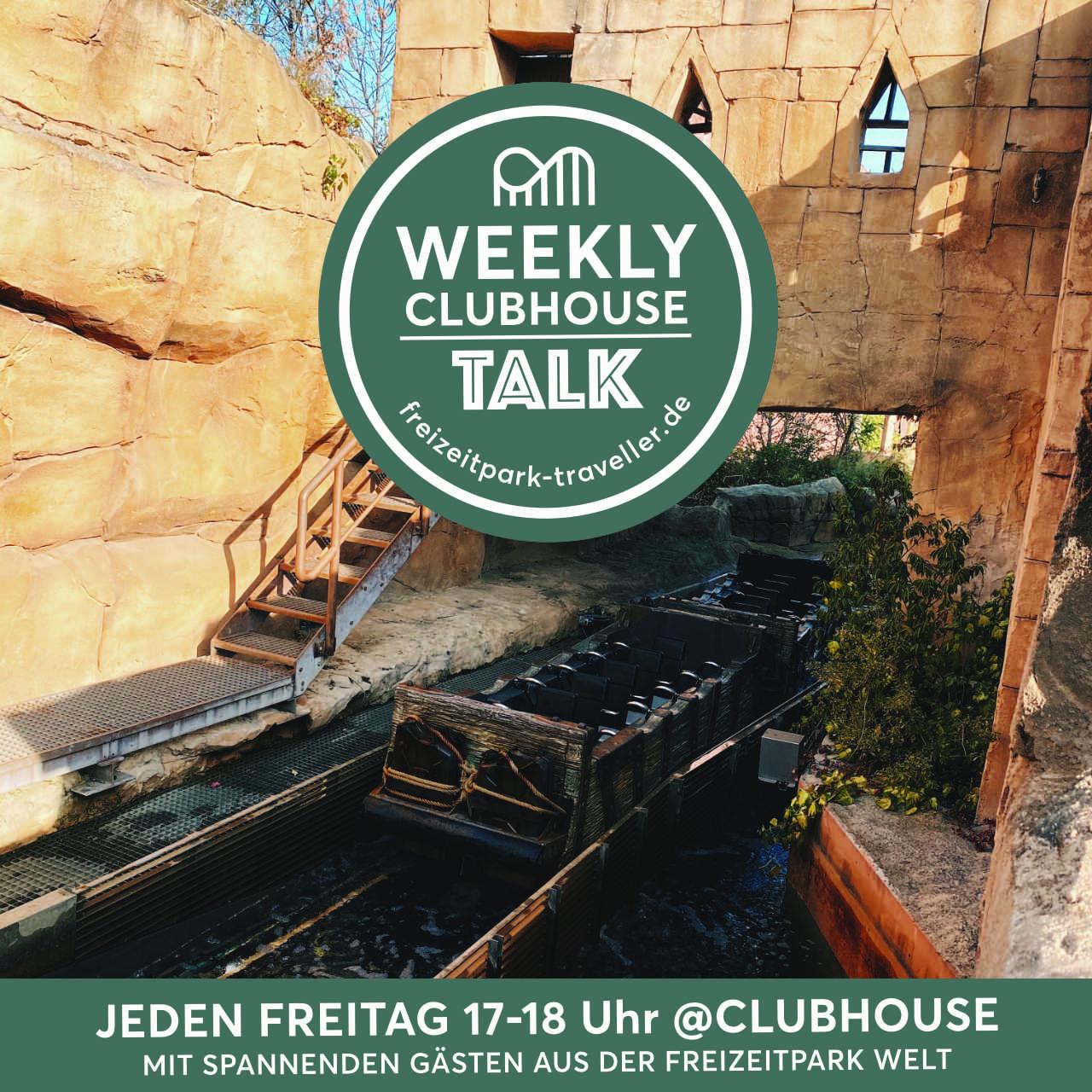 Freizeitpark Talk auf Clubhouse