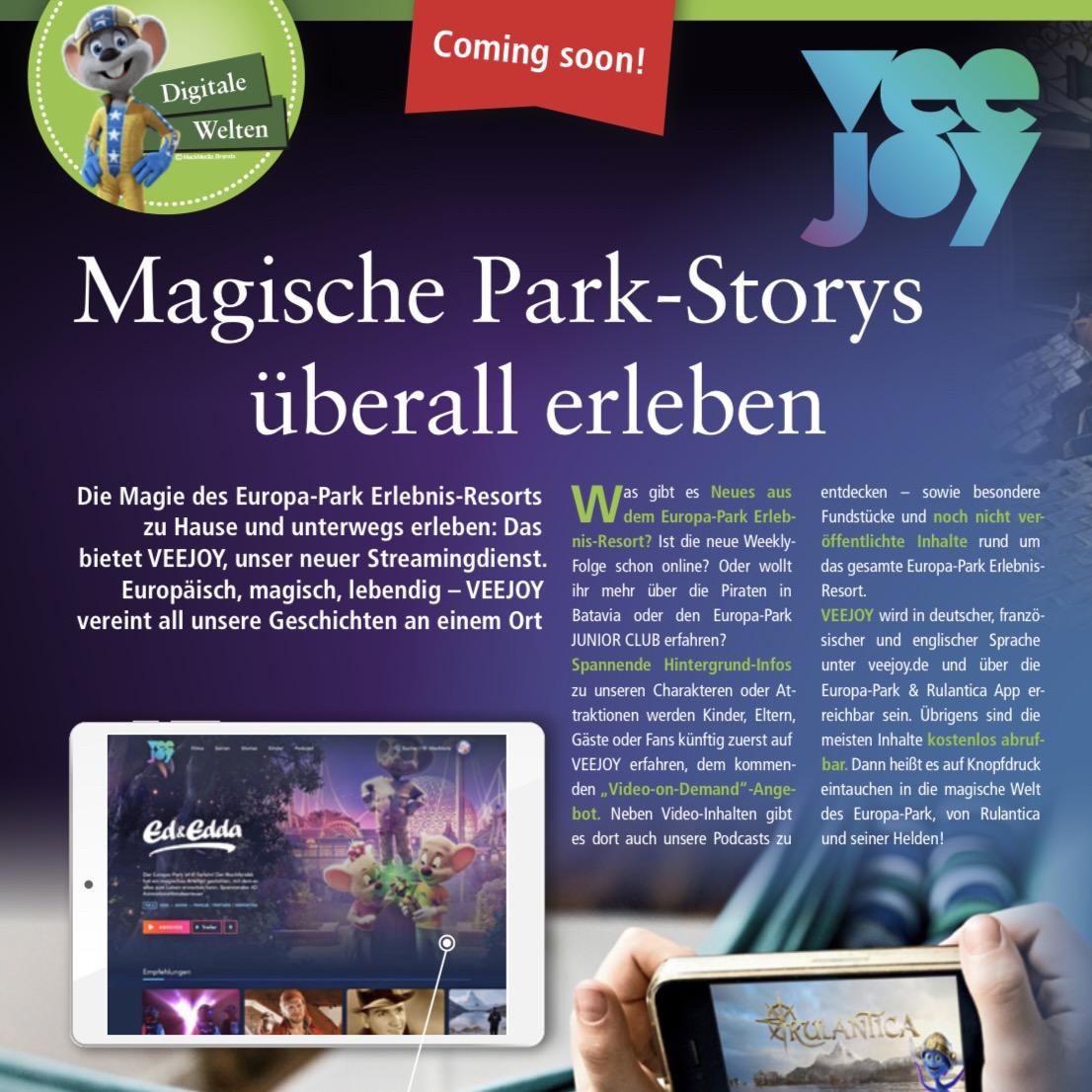 """Europa-Park """"VEEJOY"""" – eine Plattform, alle Formate!"""