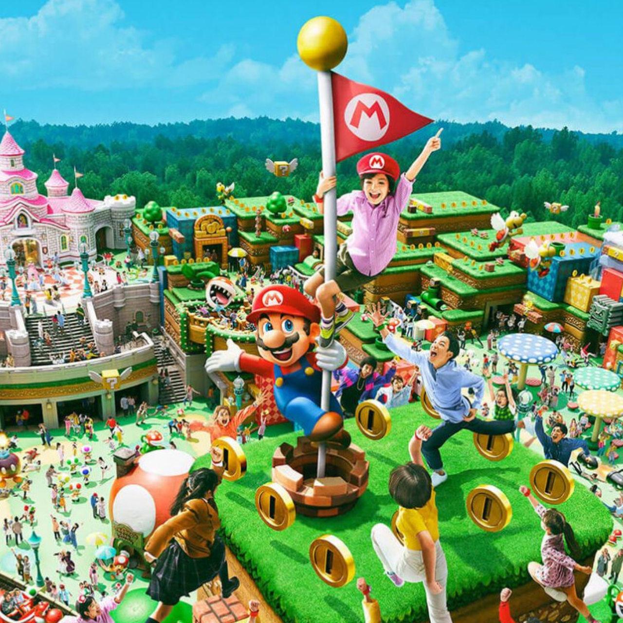 Onride-Videos und Einblicke in Super Nintendo World