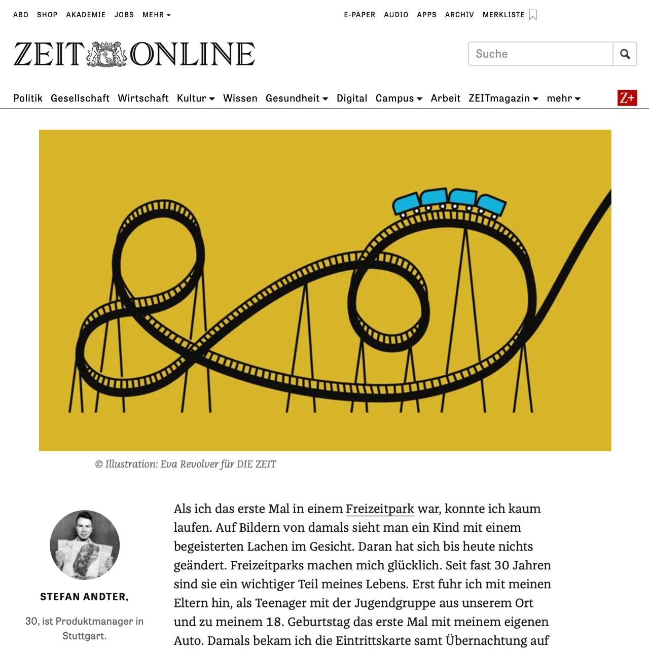 Freizeitpark Traveller im Interview mit DIE ZEIT