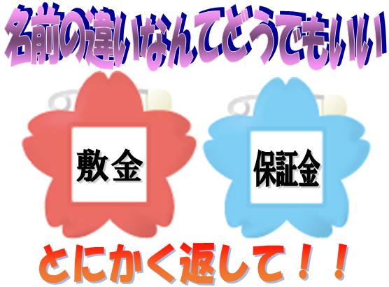 敷金と保証金の違いは、東京|神奈川(横浜)|埼玉|愛知(名古屋)|大阪|広島から全国まで峯弘樹事務所の敷金返してnetにお尋ね下さい。