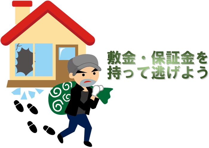 東京|神奈川(横浜)|愛知(名古屋)|大阪|広島の皆さま敷金・報奨金は差し引かれる前に持って逃げましょう。
