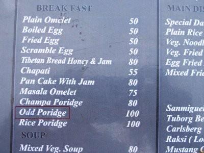 Odd porridge? seltsam... ;o)