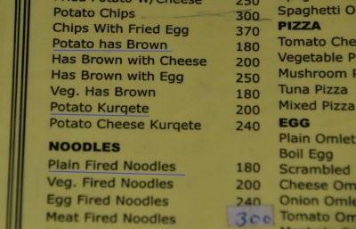 Kartoffel hat braune? Was denn? Gefeuerte Nudeln?