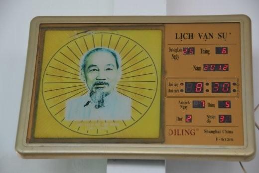 Ho Chi Minh als Wanduhr.