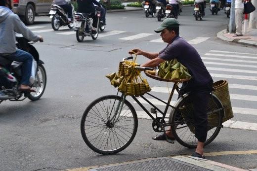 Straßenverkäufer.