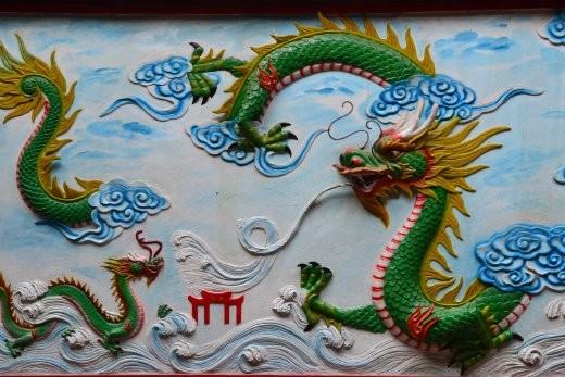 Drachenbildnis im Chua On Lang.