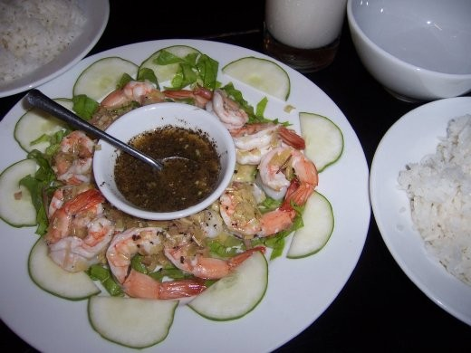 Shrimps mit Lemongras.