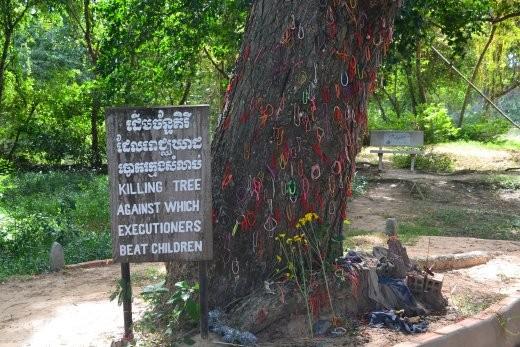 Der Killing Tree, an dem Kleinkinder und Babys getötet wurden.