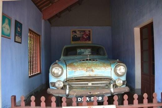 Der Austin, in dem der Mönch Thich Quang Duc am 11.06.1963 nach Saigon fuhr, um sich als Protest gegen das Diem-Regime anzuzünden.