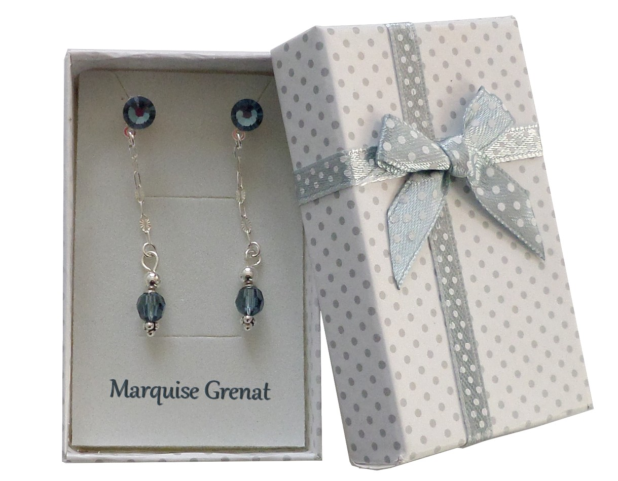Paire Boucles d/'oreille Clous Argent Pierre Etoile Turquoise